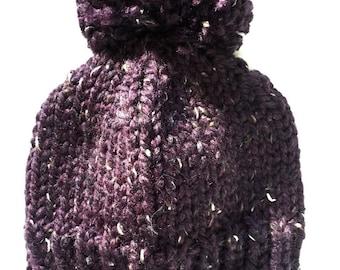 Chunky Knit Mega Pompom Hat