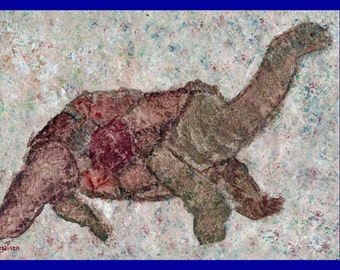 Turtle, Cave Turtle, Lost Cave Paintings of Saint Paul, Lost Cave Turtle, Whimsical Turtle