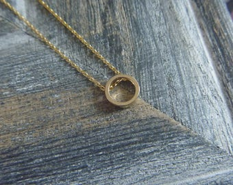 Necklace gold geometric circles