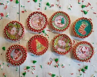 Christmas Themed Sugar Cookies