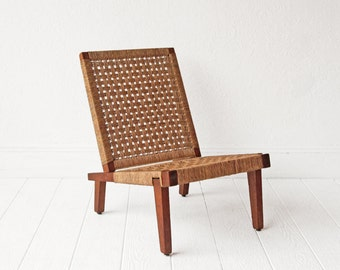 Woven Mid Century Lounge Chair