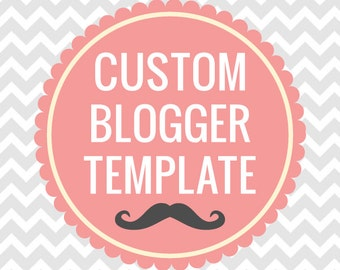 Custom Blogger Template with Matching Facebook Cover and Profile Image