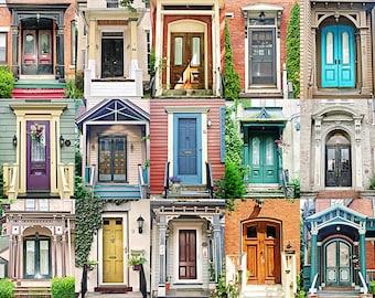 Doors Photography, Door Collection, Door Poster, Corn Hill, Rochester Photography, Rochester NY, Old Doors, Architecture, Colorful Doors