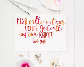 god calls our name digital print