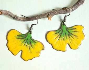 Autumn Ginkgo Leaf, Fall, Autumn Leaves, Autumn Day, Autumn Earrings, Leaf Earrings, Ginkgo Leaf Earrings, Ginkgo Jewelry, Leaf Jewelry