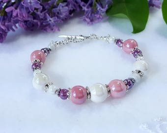 Multicolored porcelain bracelet UNIQUE#1