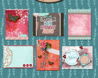 Digital Scrapbooking, 3x4 Journaling and Decorative Cards: Brighter Days
