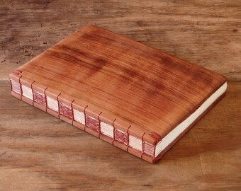 Reclaimed Redwood guest book - rustic wedding cabin guestbook - vacation home handmade journal memorial anniversary wood book  ready to ship