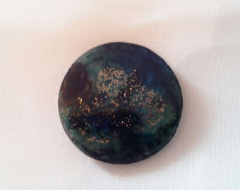 Blue flat round cabochon - 21 011