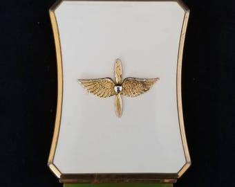 WWII Military United States Army Air Force Sweetheart Compact