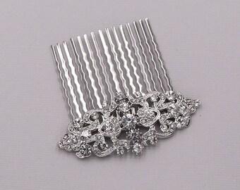 Hair Comb Wedding, crystal pearl rhinestone hair comb,bridal hair comb rhinestone, hair comb wedding, Valerie Bridal Comb