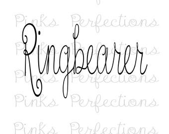 Ringbearer iron on, Ringbearer iron on, Ringbearer shirt, bridesmaid iron on transfer, wedding iron on, bachelorette party, wedding party