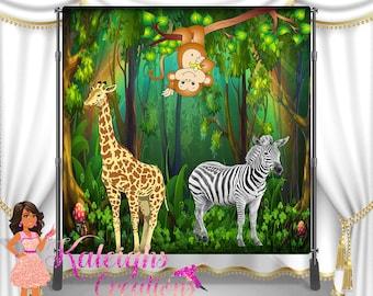 Safari Jungle BackDrop Banner