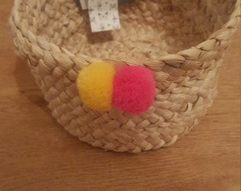 Chic bohemian decorated basket