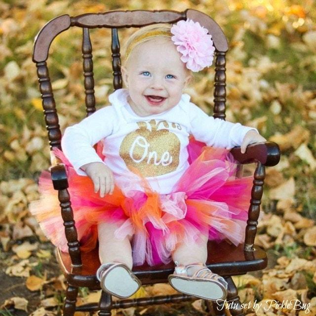 Pumpkin Smash Cake: Little Pumpkin 1st Birthday Outift Girl Cake Smash Outfit