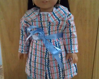 SALE Zig-Zag Bubble Hem Coat for American Girl Dolls