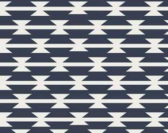 KNIT Art Gallery Arizona Tomahawk Stripe Navy Knit (Half metre)