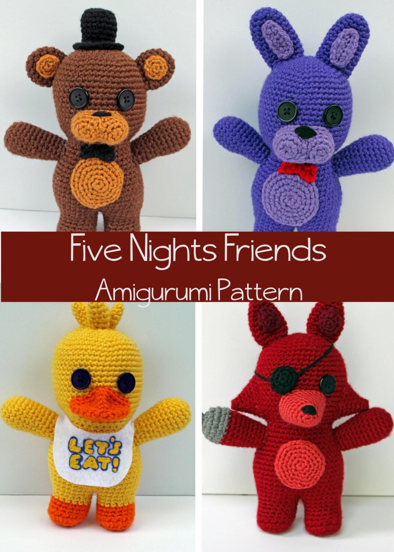 Crochet Pattern Five Nights At Freddy S Friends Amigurumi # Foxy Muebles Y Objetos