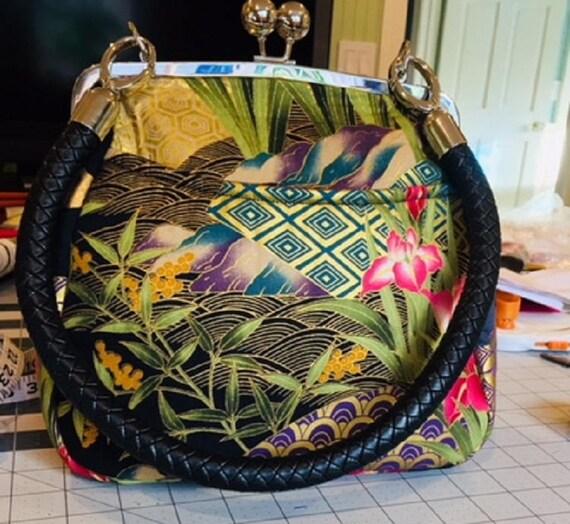 Cranes and Iris Handbag