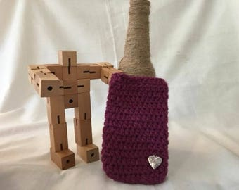 Made to order phone sock. iPhone 6, 7, 8, Samsung Galaxy, Crochet phone sock, purple phone cover, purple phone case,  iPhone case,