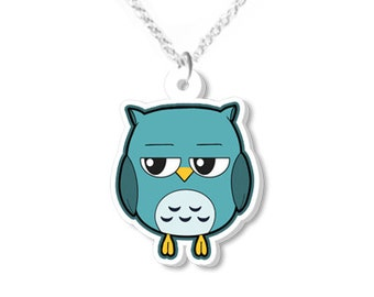 Cute owl necklace owls animal necklaces animal jewelry owl jewellery owl products kawaii owl gifts christmas gift idea