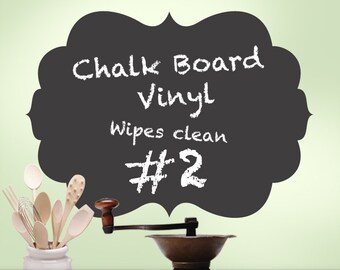 Kitchen Decor, Kitchen Chalkboard Decal, Wall Chalk Board Room Decor, Curvy Shape 02