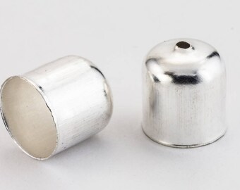 10mm Silver Smooth Rounded Bead Cone #COB001