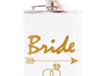 Bride Or Groom Flask Wedding Gift Wedding Flask
