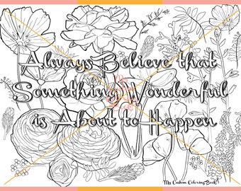 Download Inspirational Floral Coloring Page