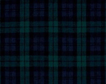 Cotton Flannel Plaid 5 Tartan Fabric by the yard