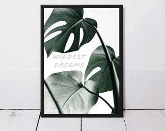 Wall Art,Poster,Prints,Home Decor,Office Decor,Art Print,Gift,Quote,Modern Art,Leaves,Printable Art,Plant,Monstera,Tropical,Botanical