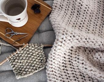 Blanket Knitting Pattern - LoveMe