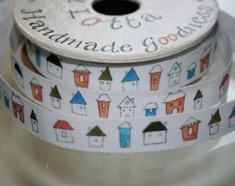 Wonky Houses Cotton Tape