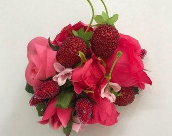 Raspberry Swirl Hairflower