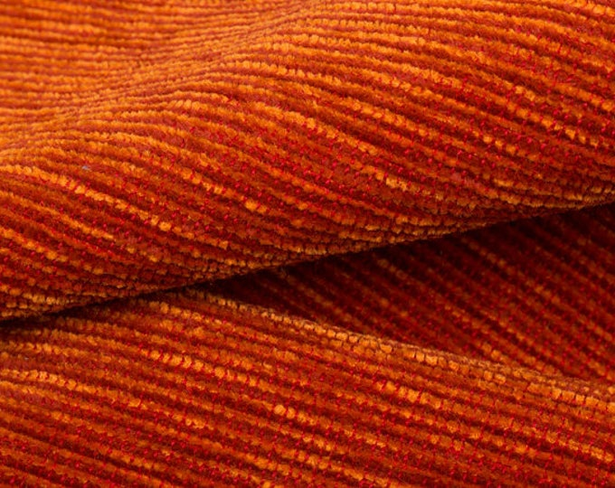 Holly Hunt fabric - Great Outdoors - Birds of Paradise in Blood Orange - Indoor Outdoor - Orange Ribbed Chenille Pillow Cover -