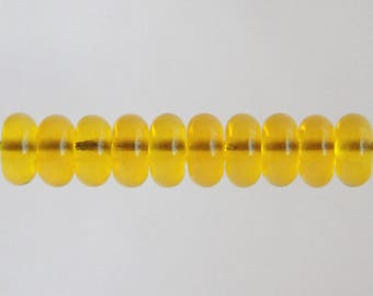 Transparent Yellow Lampwork Glass Bead Spacers MADE TO ORDER
