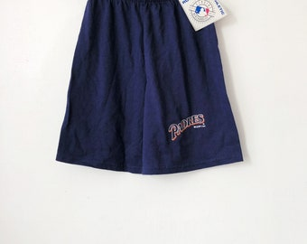 vintage san diego padres shorts russell athletic youth size medium deadstock NWT 1992 made in USA