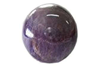 Wholesale GemShop - 40 mm Amethyst Sphere (Ball) Natural Crystal Gemstone Polished Mineral Quartz Ball - India - 97 gm with Free Shipping