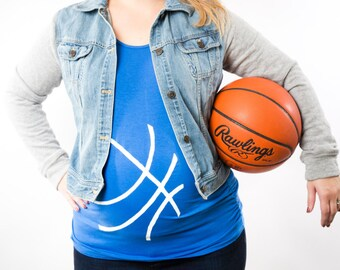 UK Wildcats Basketball Maternity Shirt, Halloween Maternity Shirt, Basketball Baby Bump Tank Top or Tee, Jersey