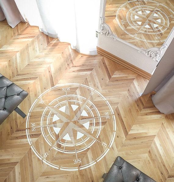 free rose de vent pochoir stencil boussole circulaire pochoir grand mur et sol pochoir with. Black Bedroom Furniture Sets. Home Design Ideas