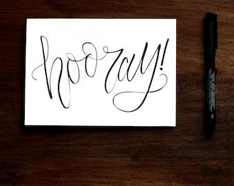 Hooray - Printable Greeting Card - Thank you Birthday Congratulations