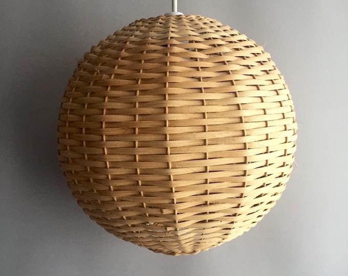 1960s woven ball light shade