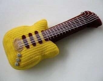 Crochet Pattern - ELECTRIC GUITAR- Toys - PDF  (00447)