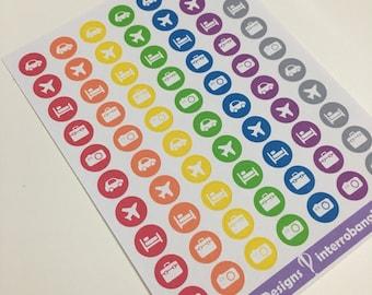 A109 - Travel Icon Stickers - Planner Stickers - Erin Condren Happy Planner
