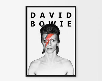 David Bowie Print, David Bowie Poster, David Bowie Art Print, David Bowie Photography, Music Poster, Modern, Inspiration Poster, Home decor