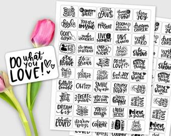 Motivational / Inspriational / Encouragement Sticker Set / 50 labels / Journal Prompts, Planner Stickers, Daily Devotional, Affirmations