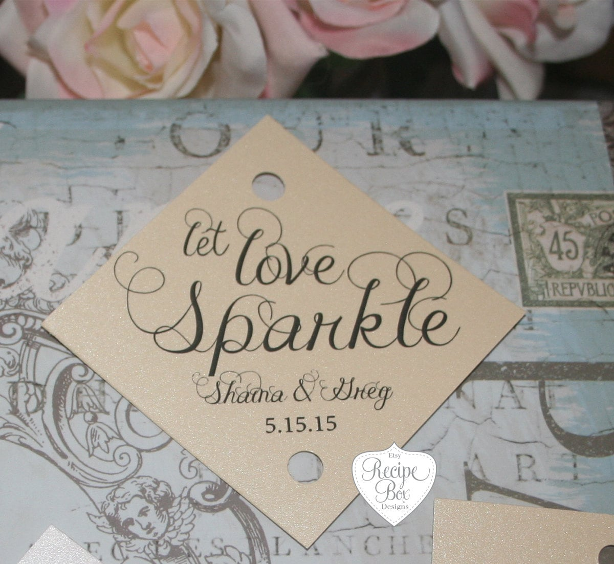 Sparkler Tag Wedding Sparkler Tags 150 pieces Let Love