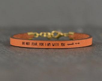 bible verse bracelet | do not fear | leather bracelet | scripture bracelet | isaiah 41 | scripture | faith bracelet | laurel denise