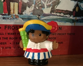 Upcycled Toy Little People Christmas Ornament-Pirate