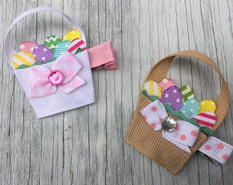 Easter Basket Bow // Easter Bow // Easter Egg Hair Bow // Easter Hair Clip // Easter Basket Bow // Easter Hair Clip // Easter Baby Bow